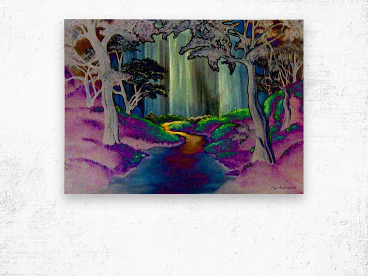 Forest Magic Wood print