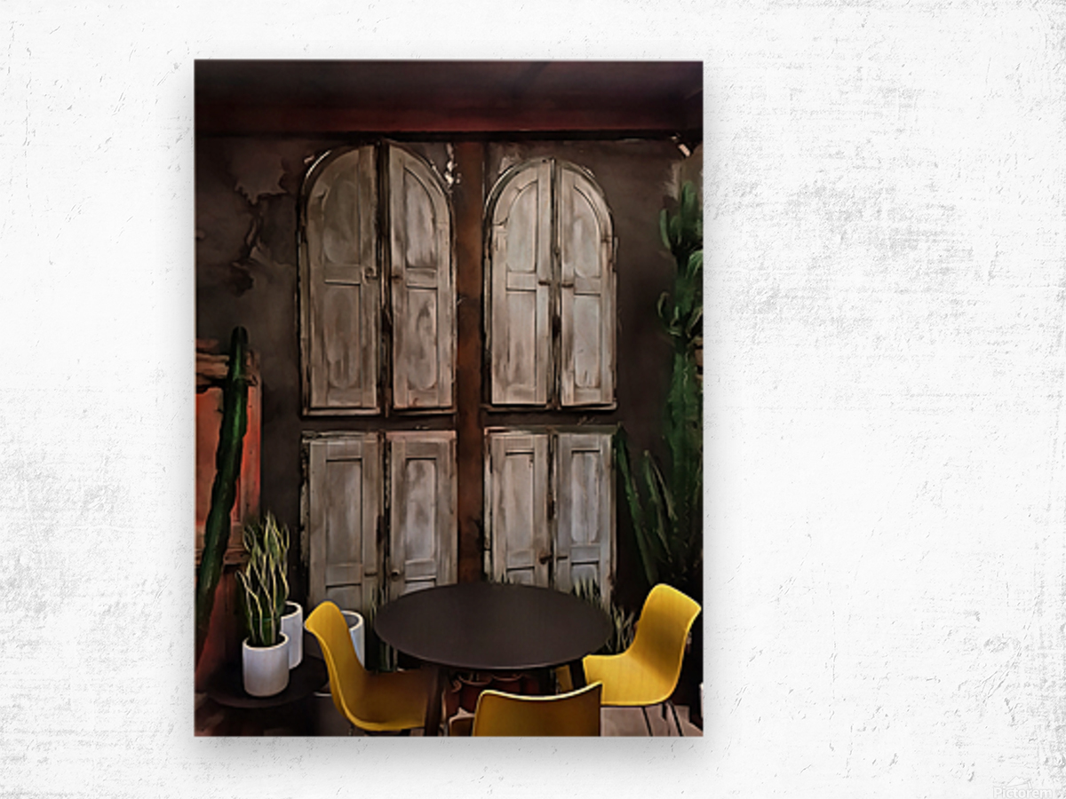 Life Behind Closed Shutters Wood print
