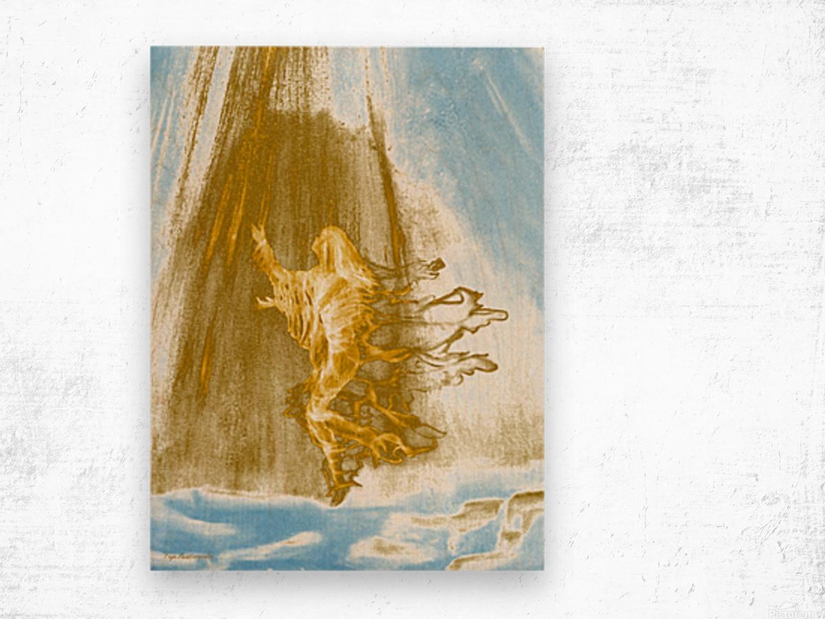 Ascending Angel Wood print