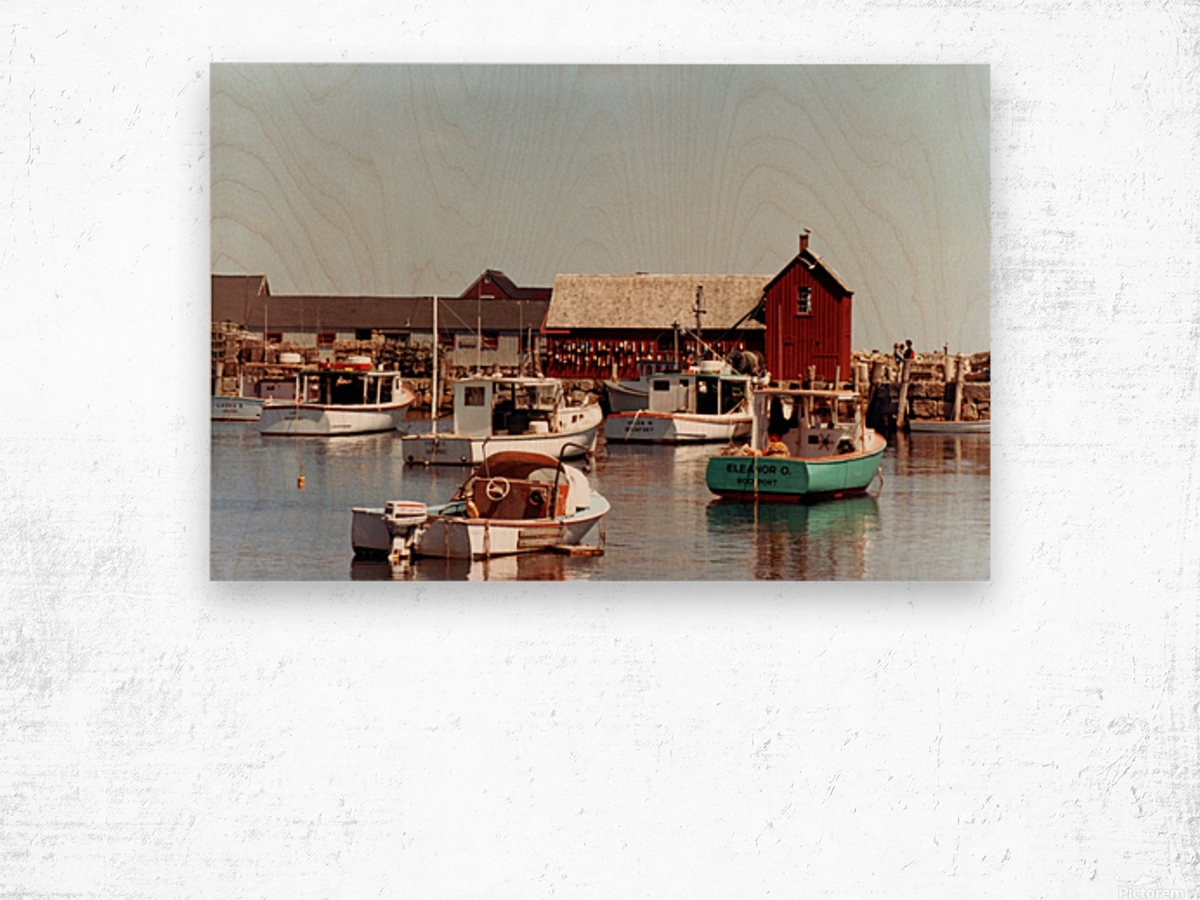 rockport retouched Wood print