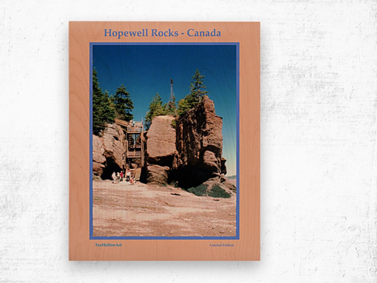 Hopewell Rocks - Canada Wood print