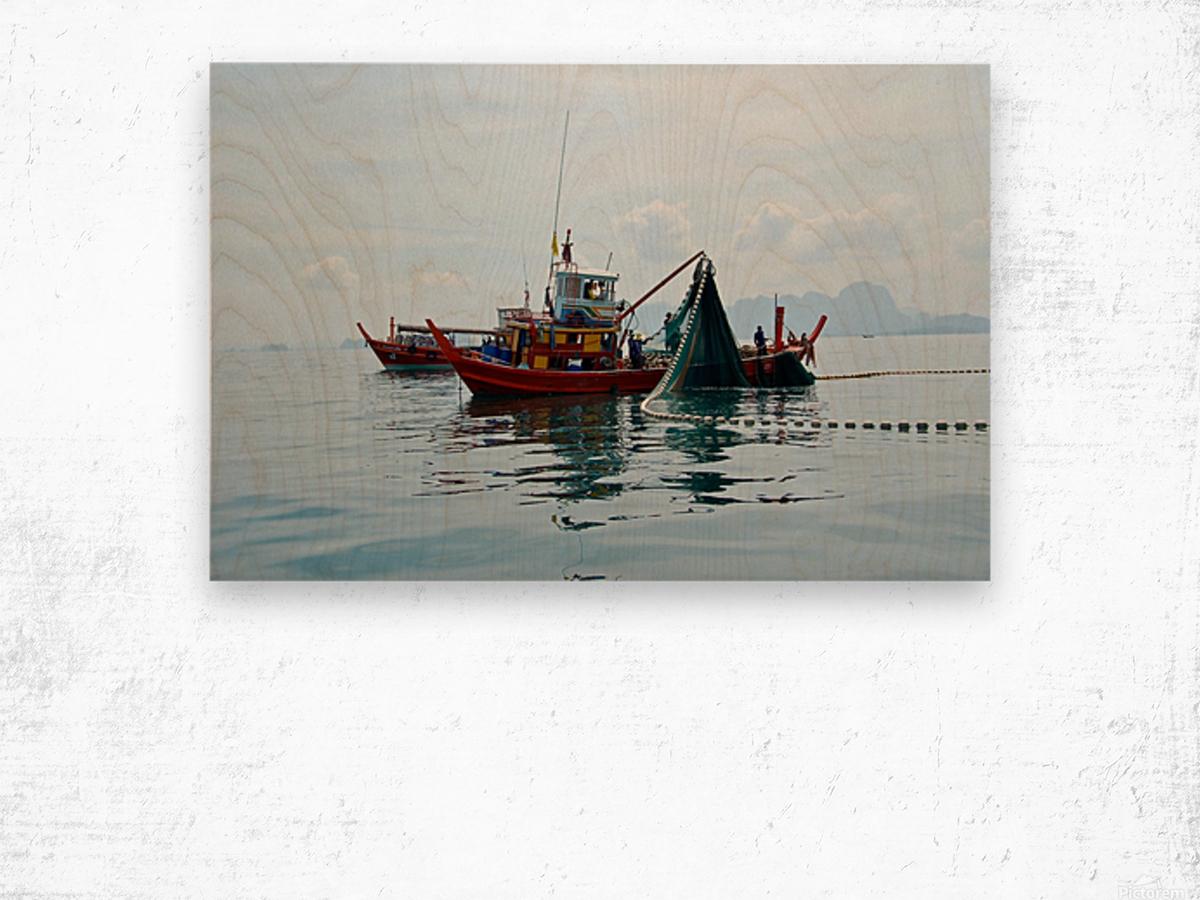 Bangkok - The Fisherman Wood print