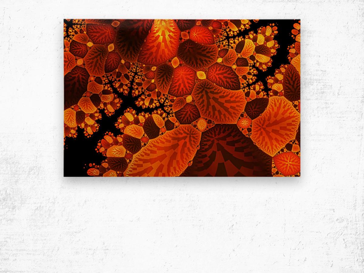 leaf autumn nature background Wood print
