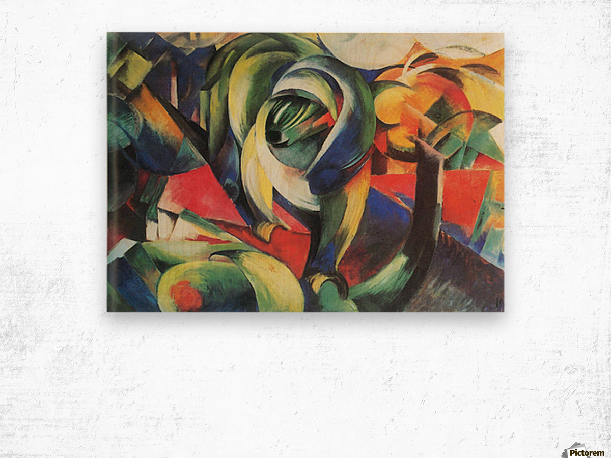 The Mandrill by Franz Marc Wood print