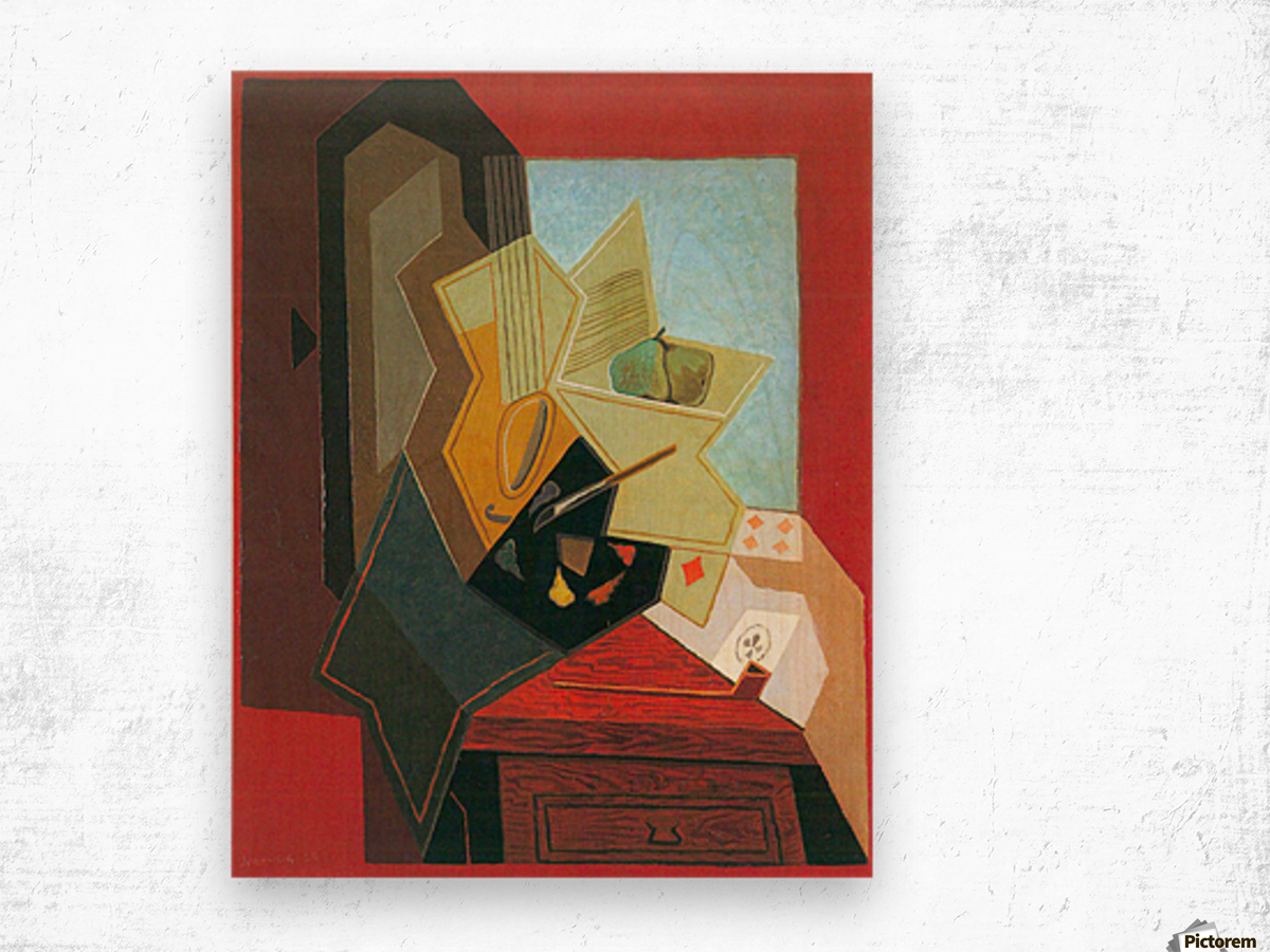 The window of the painter by Juan Gris Wood print