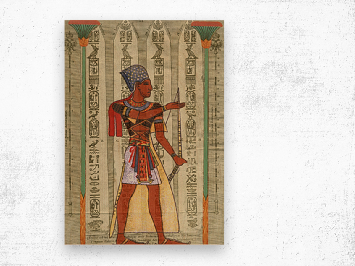 egyptian design man royal  Wood print