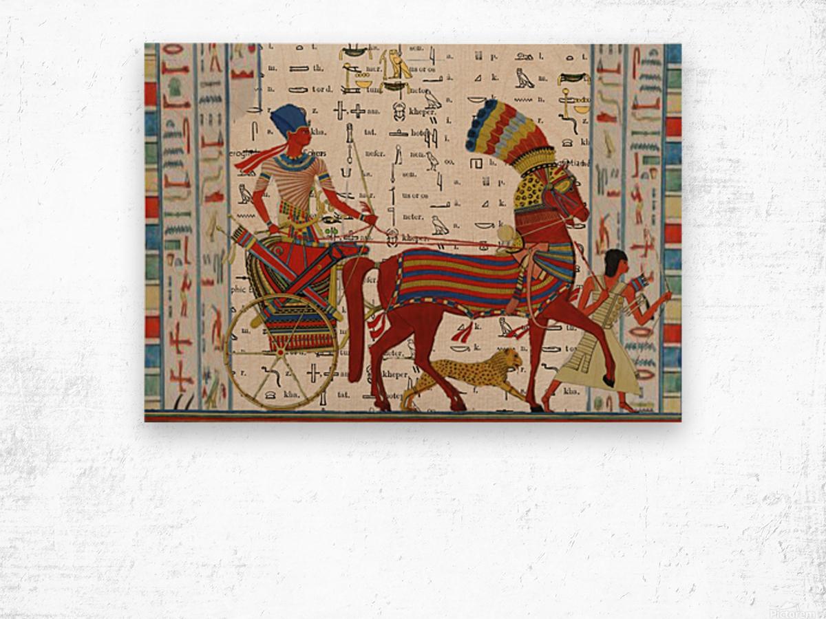 egyptian tutunkhamun pharaoh design  Wood print