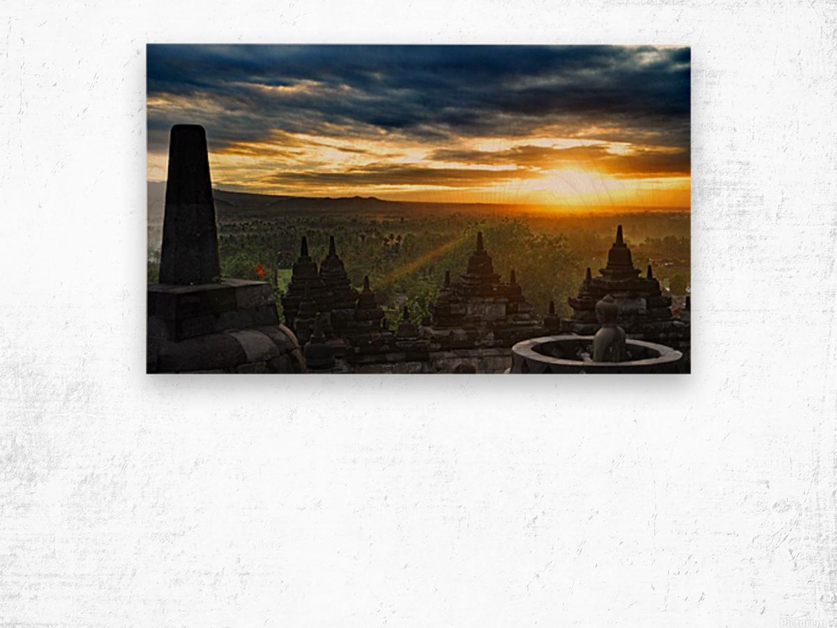 indonesia java landscape borobudur Wood print