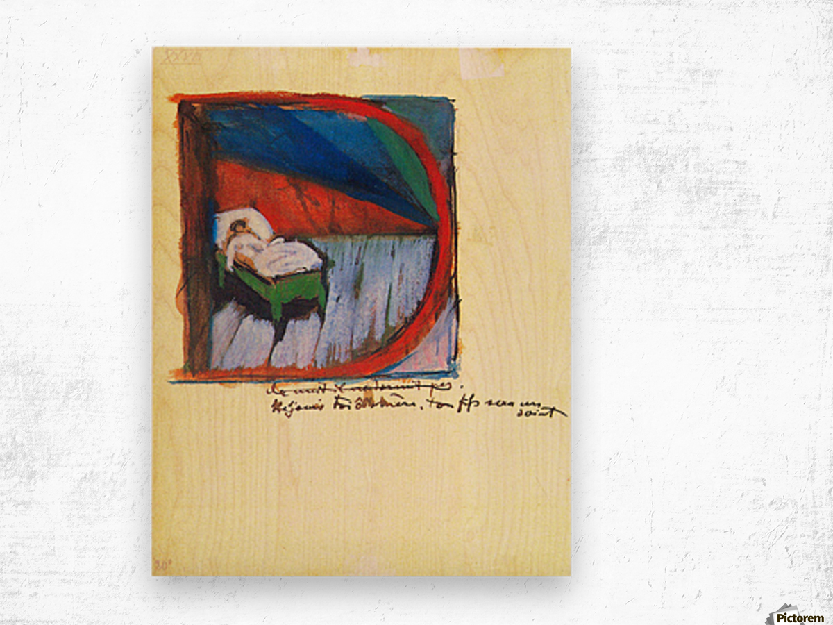 Vignette D by Franz Marc Wood print