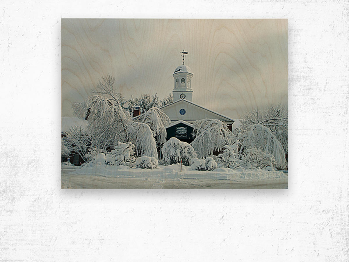 Rivermead After The Storm - Peterborough NH Wood print