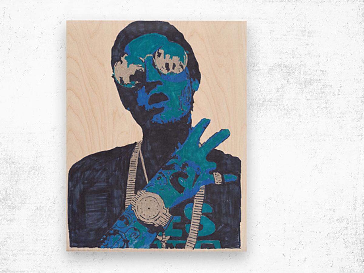 Remember me  Tex_3 Wood print