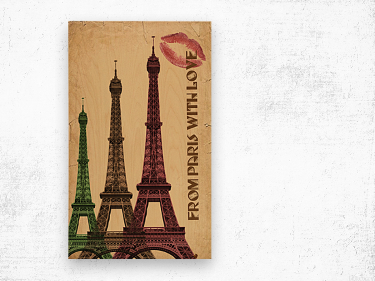 france paris paris france city Wood print
