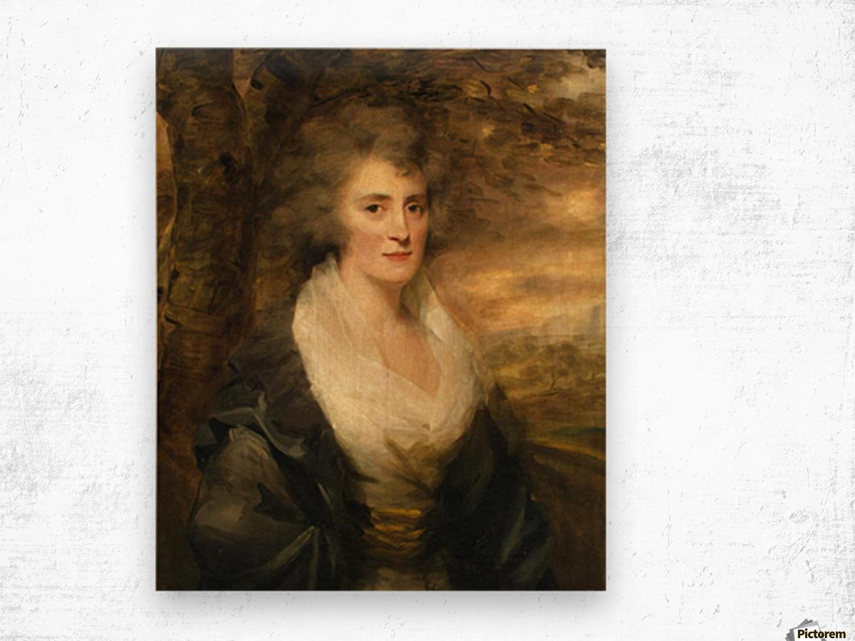 Portrait of Mrs E.Bethune Wood print