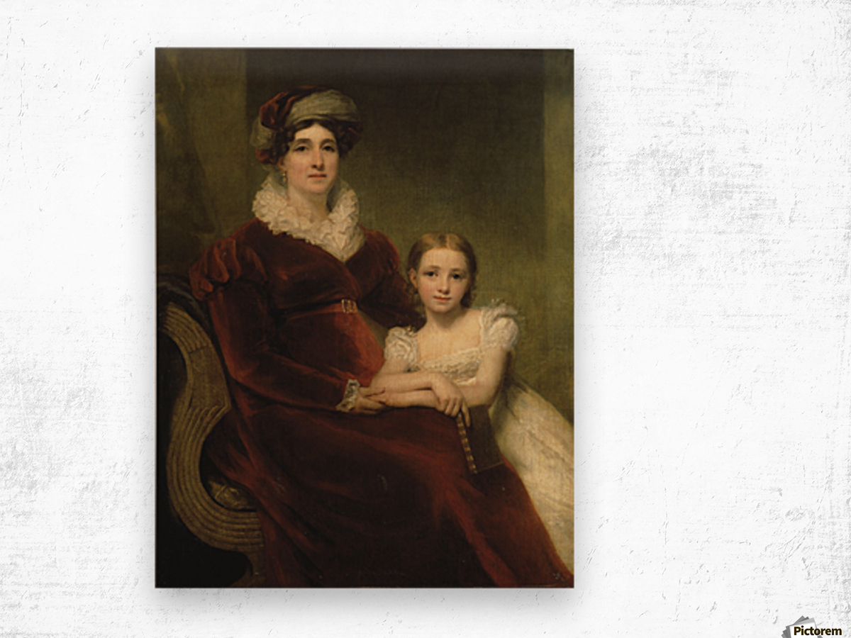 Mrs.Alexander Allan with her granddaughter Wood print