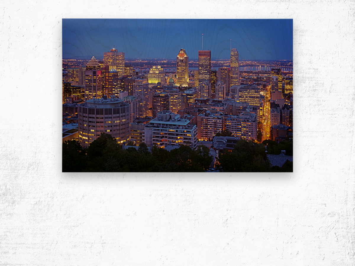 City Lights of Montreal Quebec Cityscape Giclee Canvas Picture Art