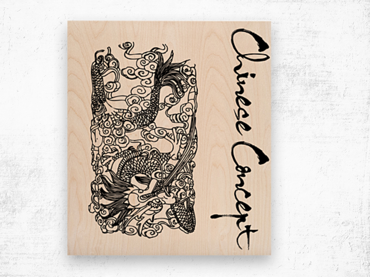 Chinese Concept 07A Wood print