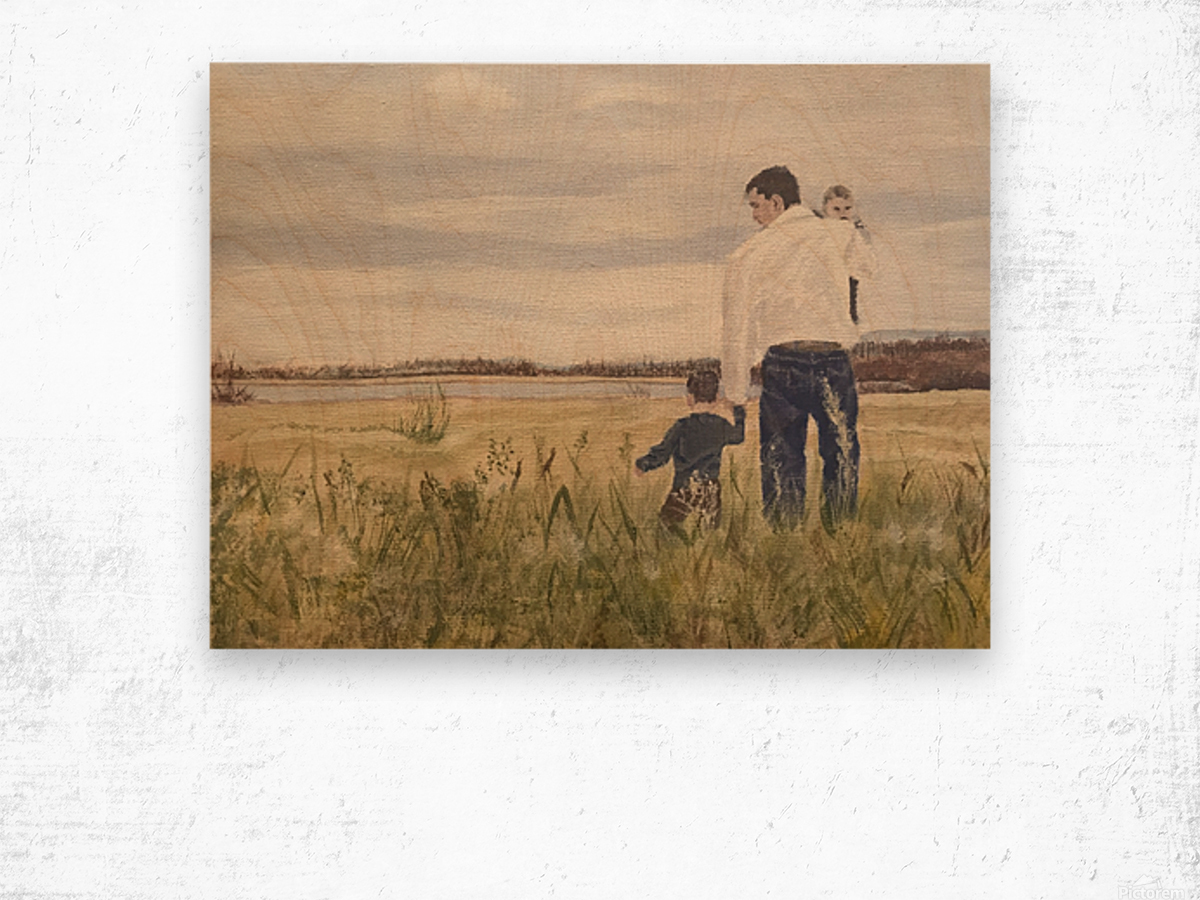 Dads day Wood print