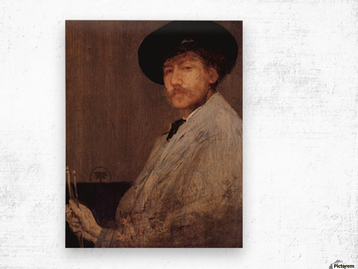Self Portrait -1- by James Abbot McNeill Whistler Wood print