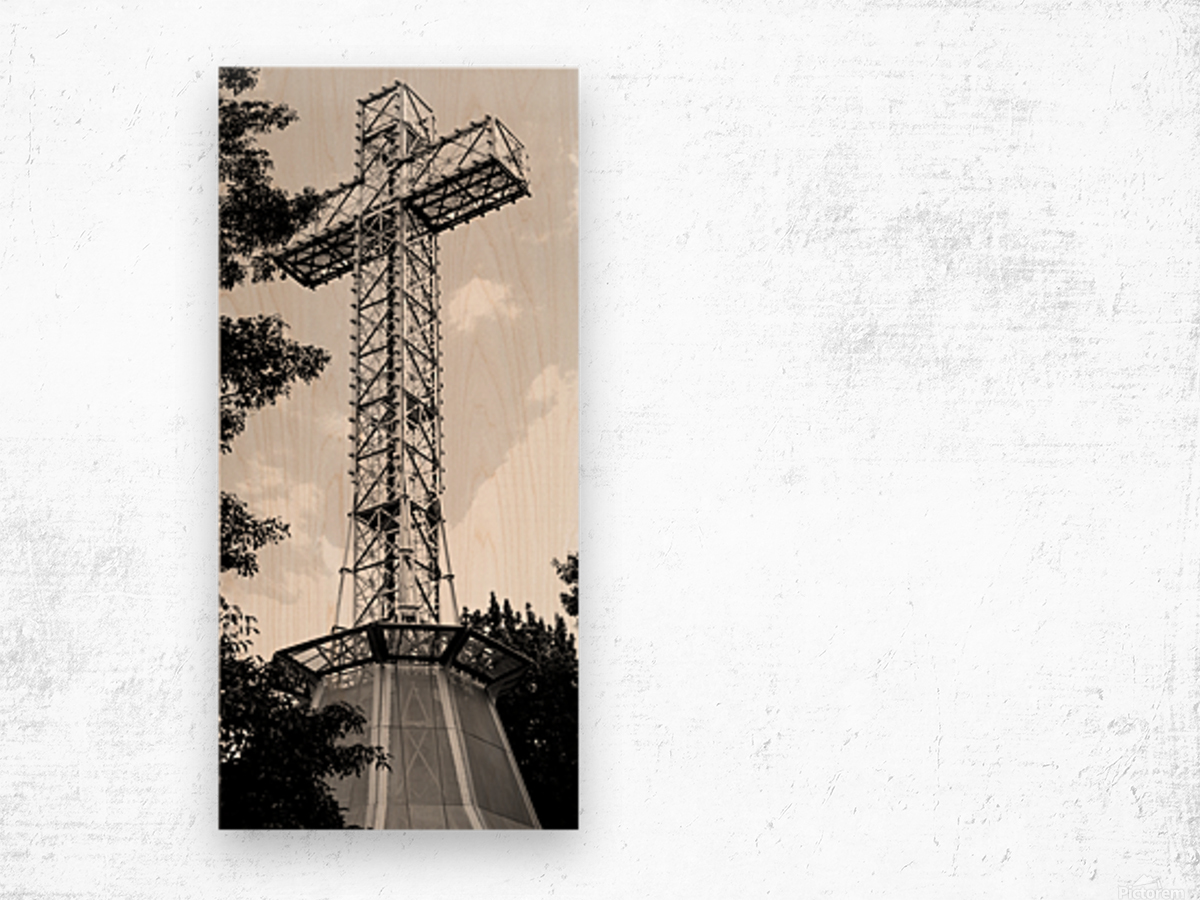 cross6 Wood print