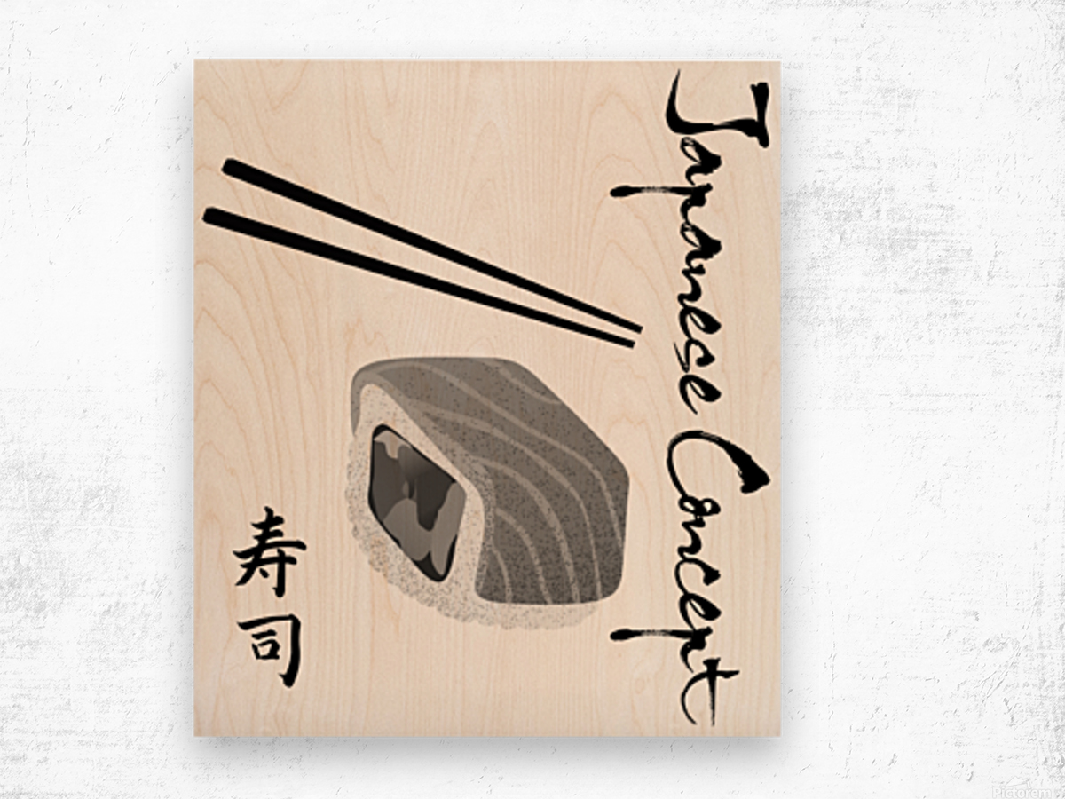 Japanese Concept 12A Wood print