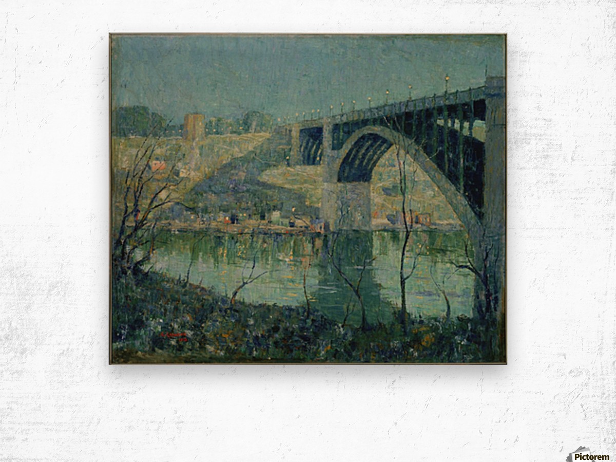 Spring Night Harlem River Wood print