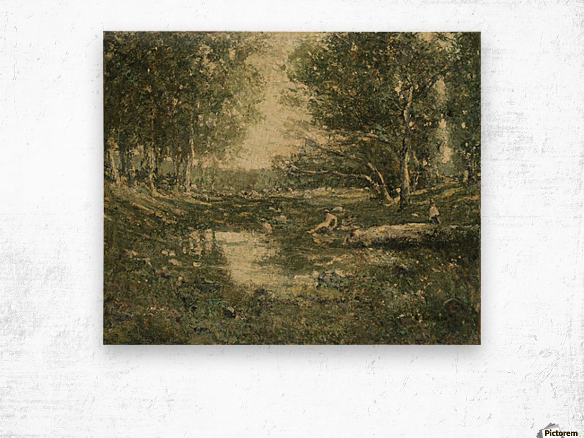 Nympfes on the lake Wood print