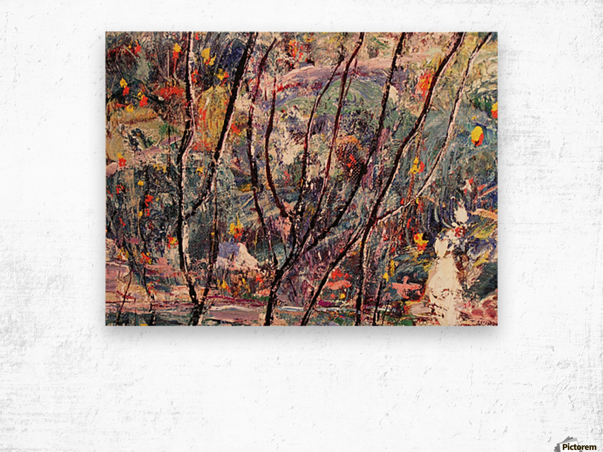Autum leaves Wood print