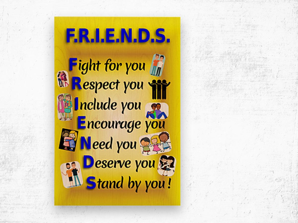 2-Friends  Wood print