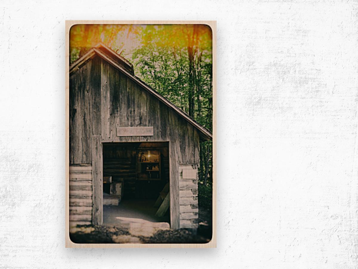 The Maple Shack Wood print