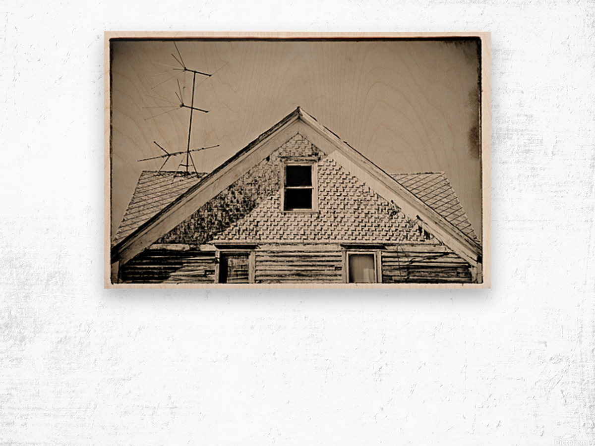 Top of the house Wood print