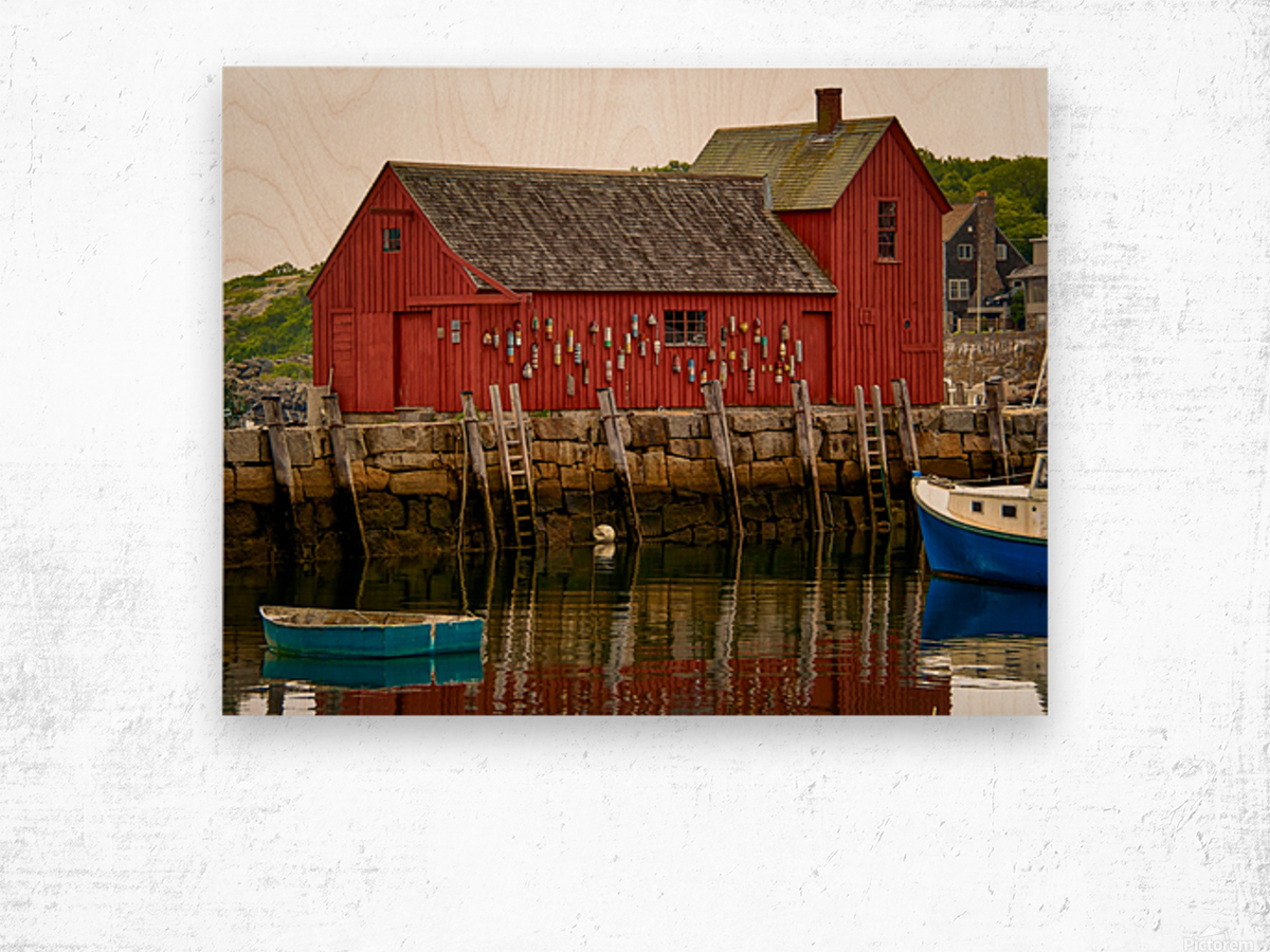 Motif Number 1 - Rockport MA Wood print