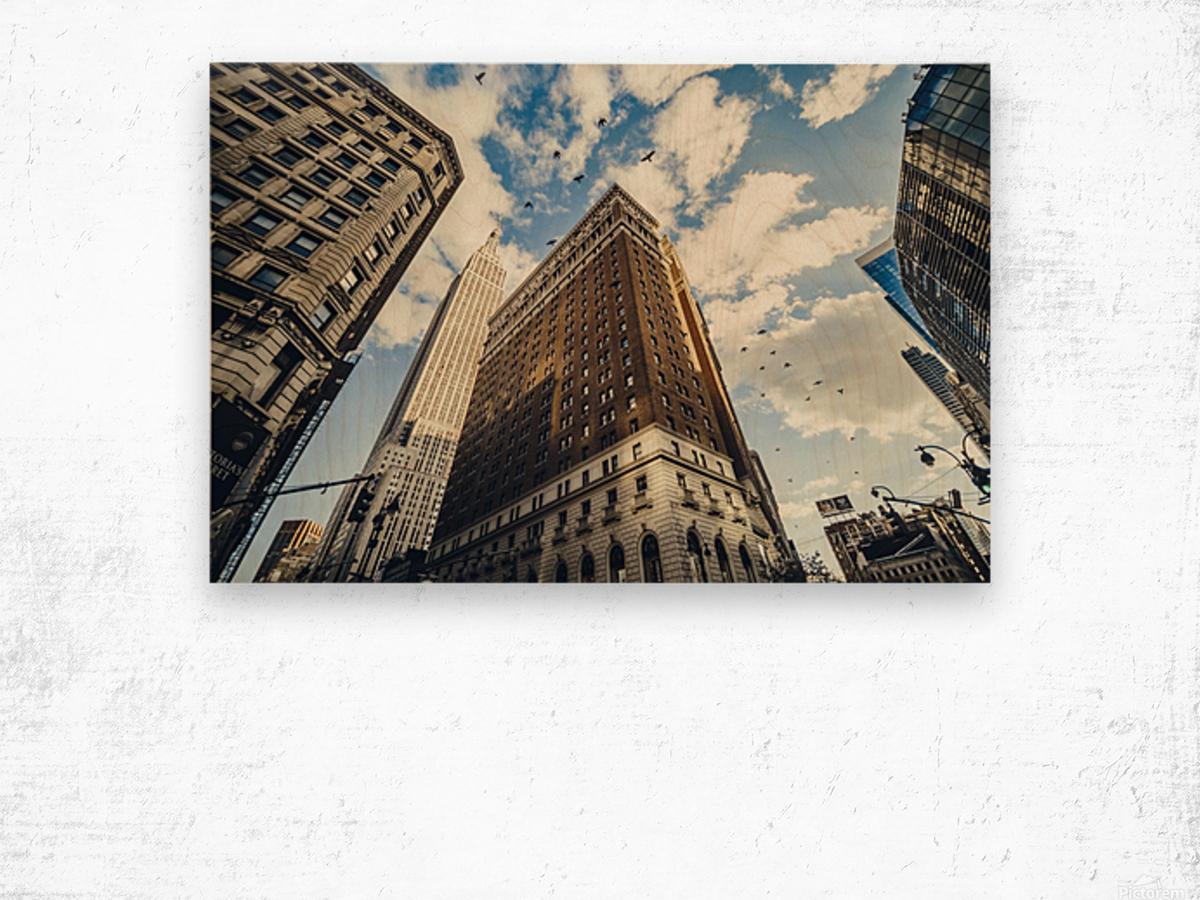New York Sky Wood print
