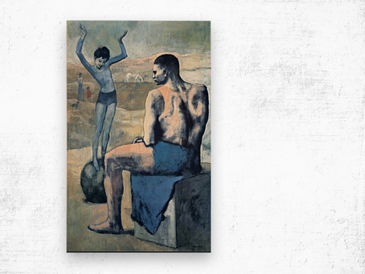 Pablo Picasso. Girl on the Ball HD 300ppi Wood print