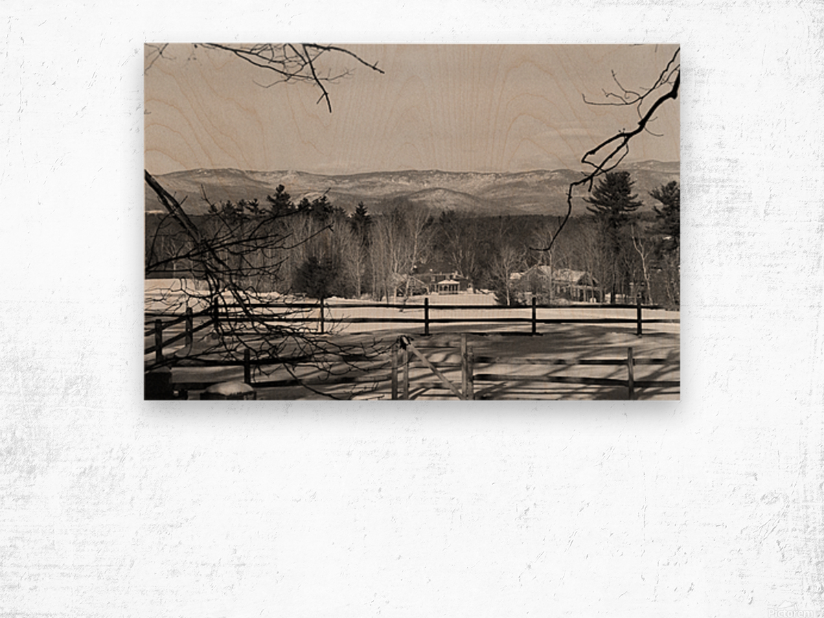 White Mountains - New Hampshire Wood print