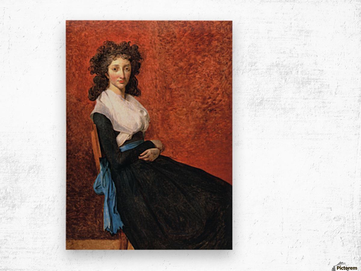 Portrait of madame charles louis trudaine 1792 Wood print