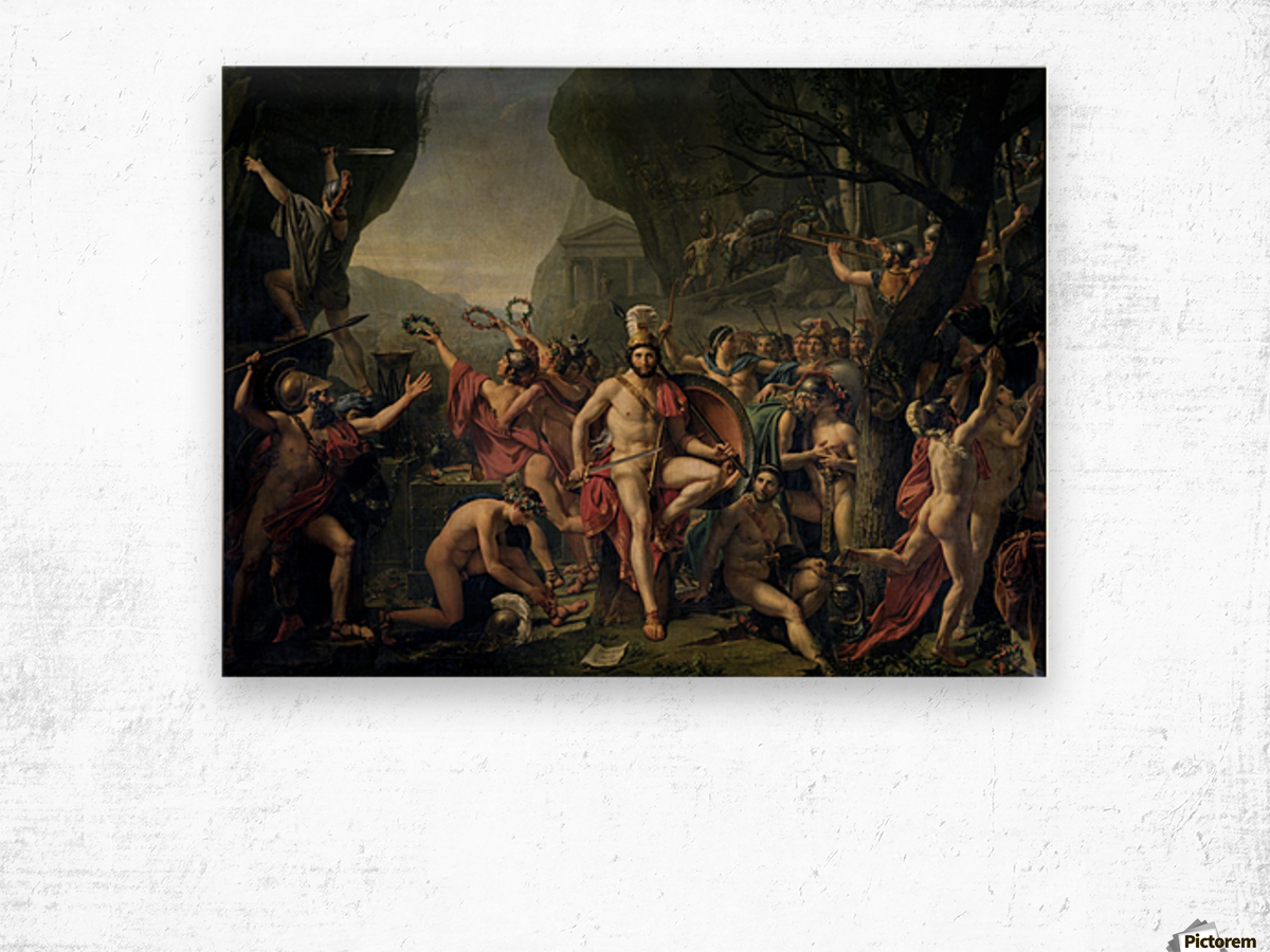 Leonidas at Thermopylae Wood print