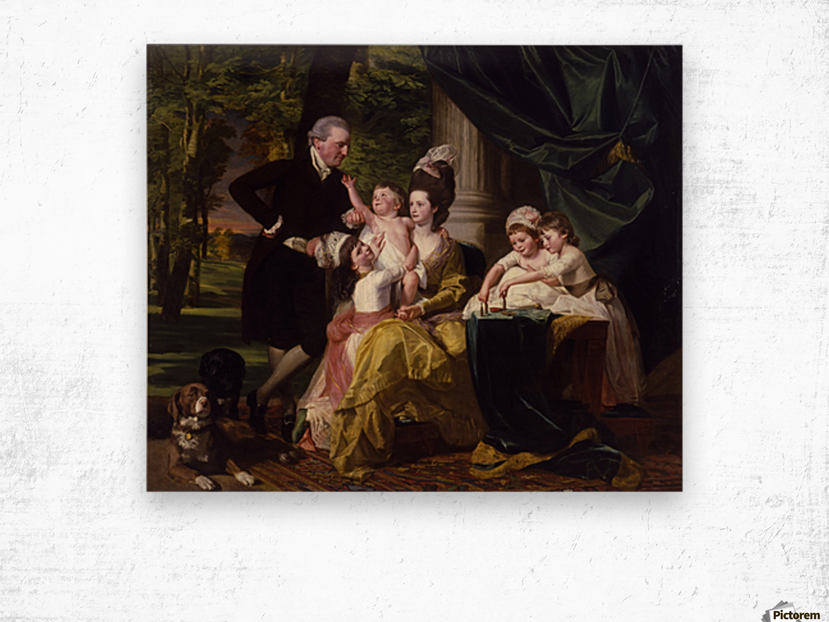 Sir William Pepperrell and His Family Wood print