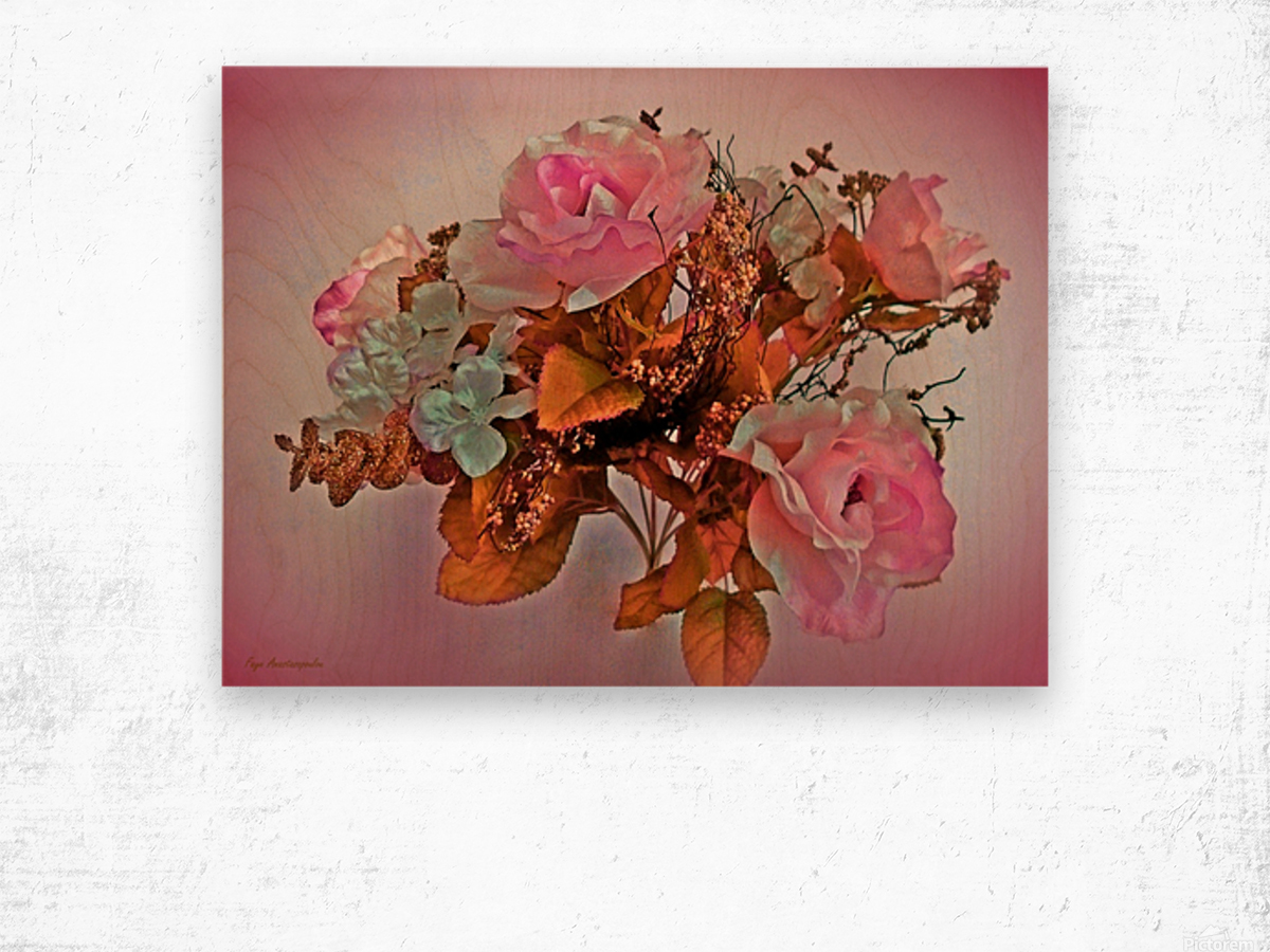 Pink Springtime Morning Wood print