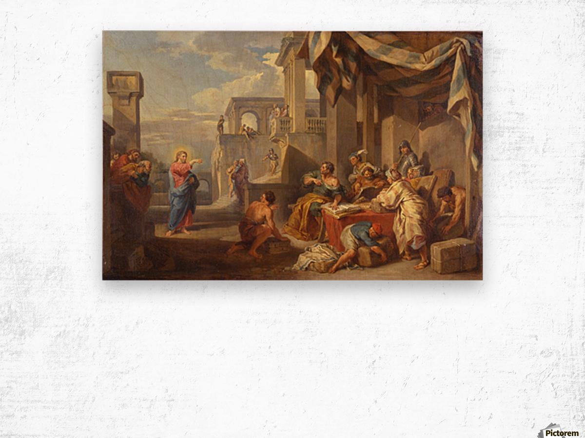 The Calling of Saint Matthew Wood print