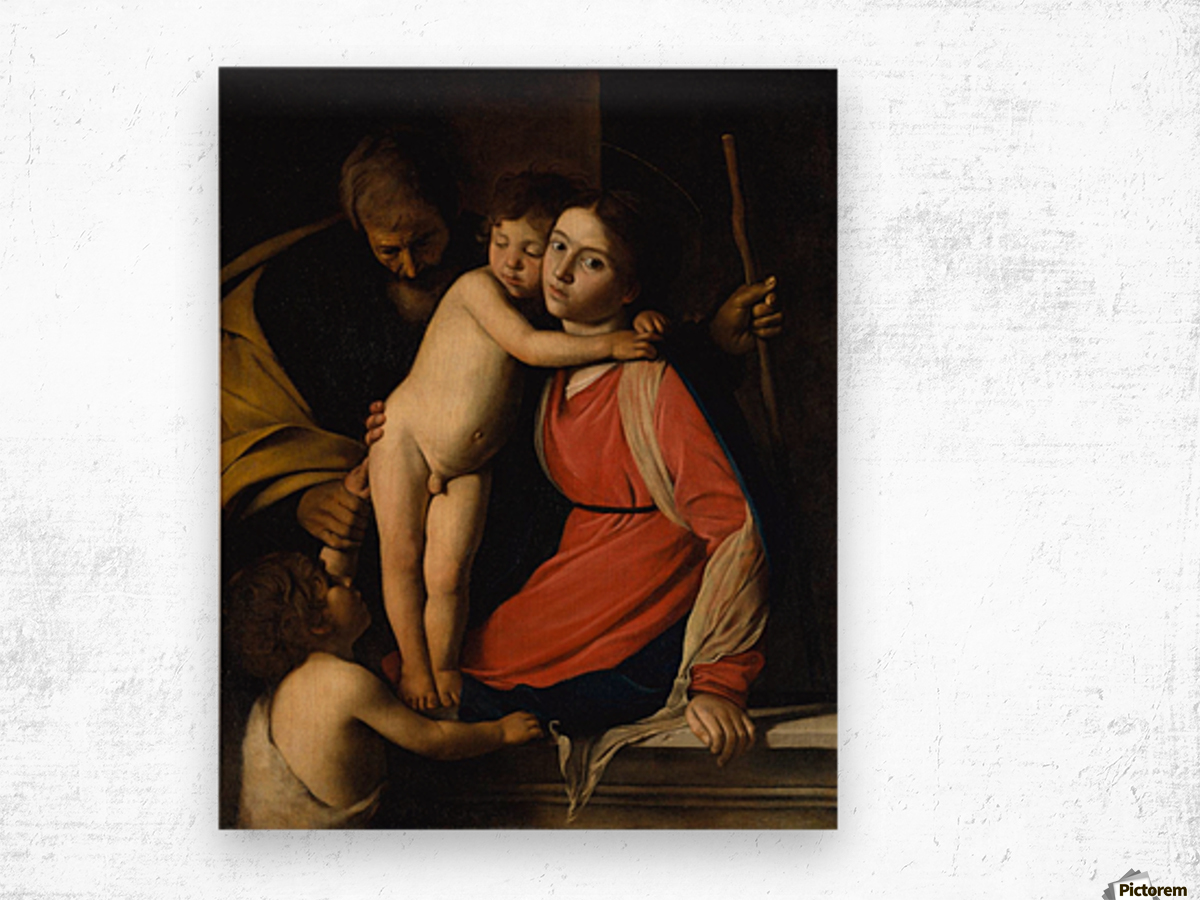 The Holy Family with the Infant St. John the Baptist Wood print