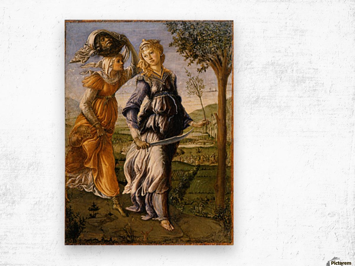 Il ritorno di Giuditta a Betulia Wood print