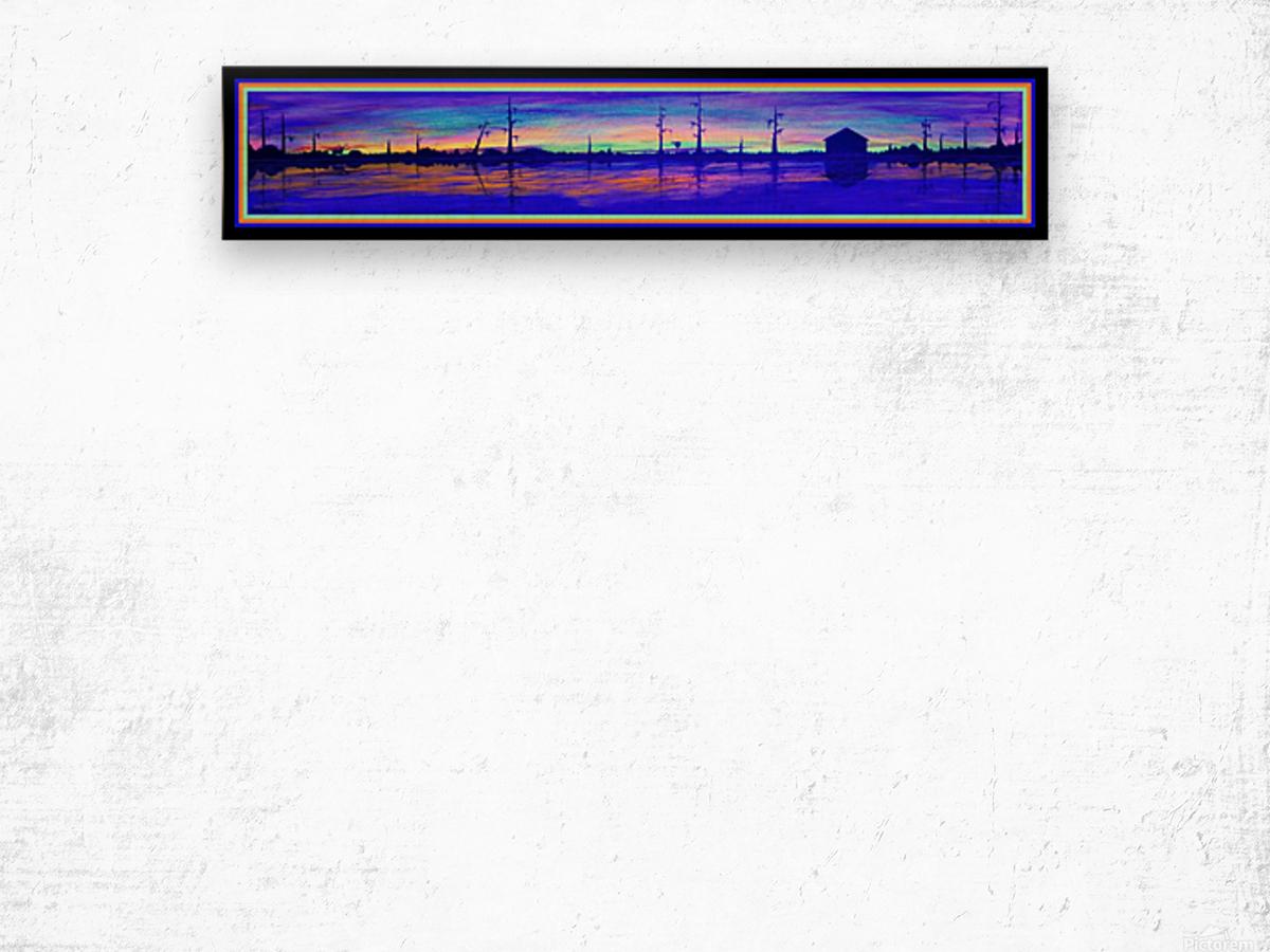 WINTER MARSH IV  -  BLACKLIGHT VERSION Wood print