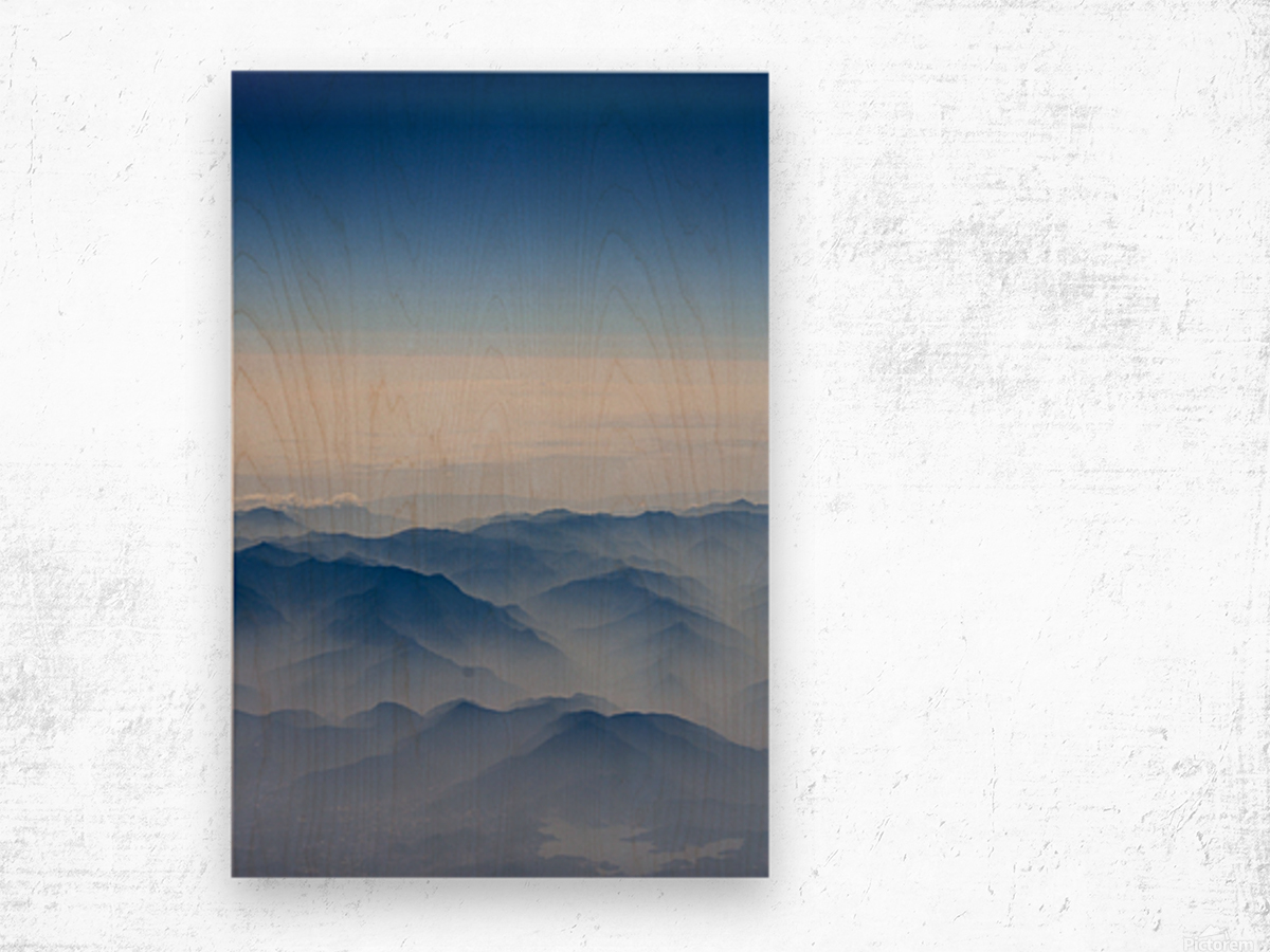 Japanese Mountains Wood print
