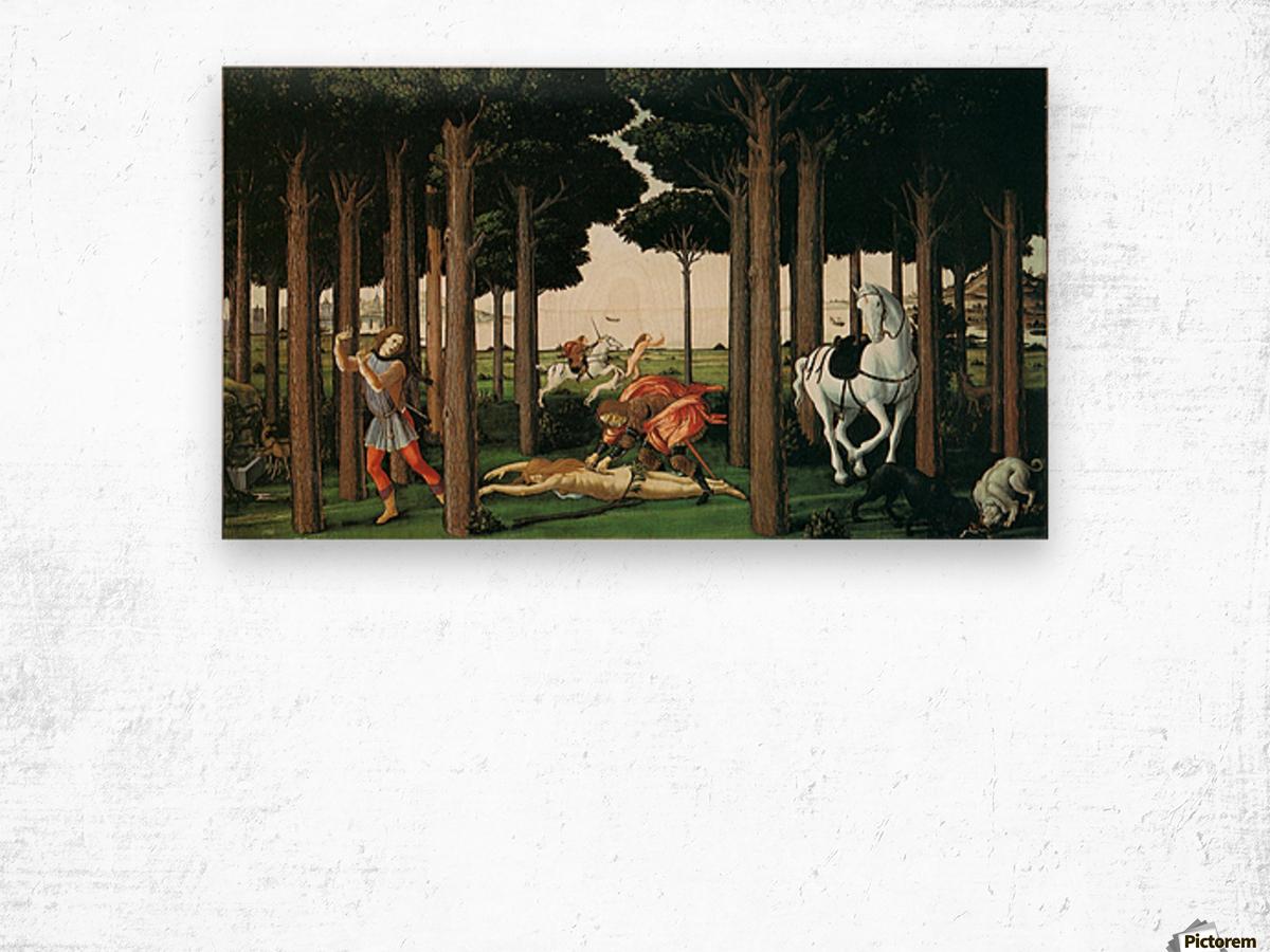 Story of nastagio degli onesti further episodes Wood print