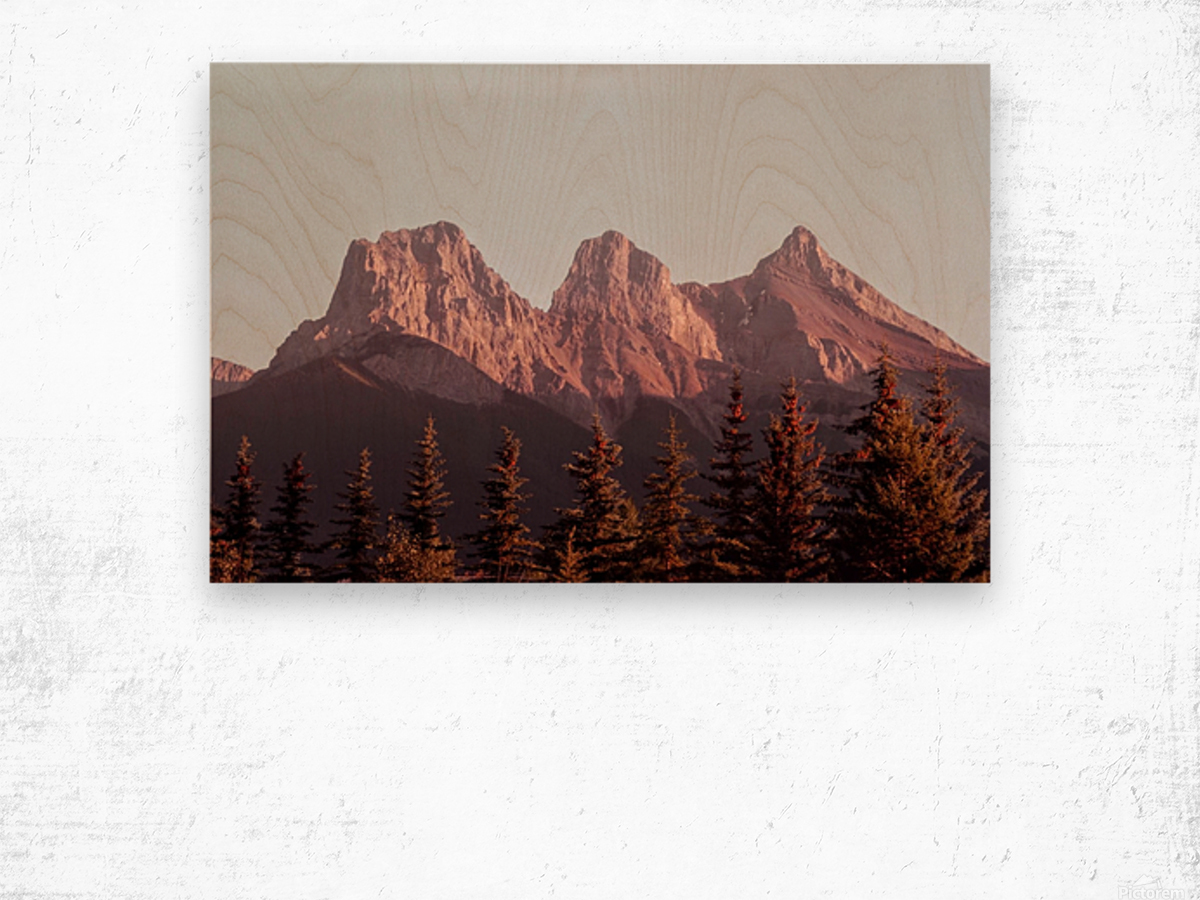The Three Sisters Wood print