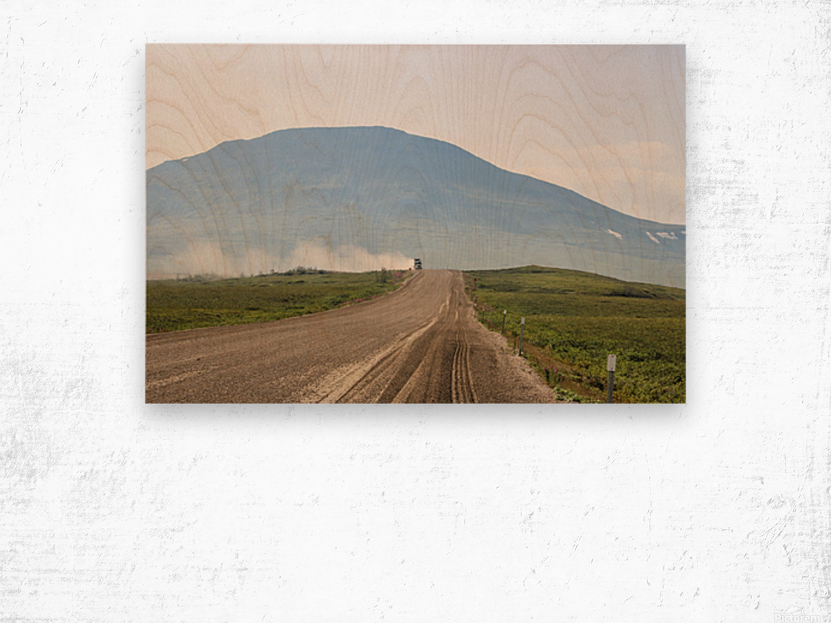 Truck on the Dempster Wood print