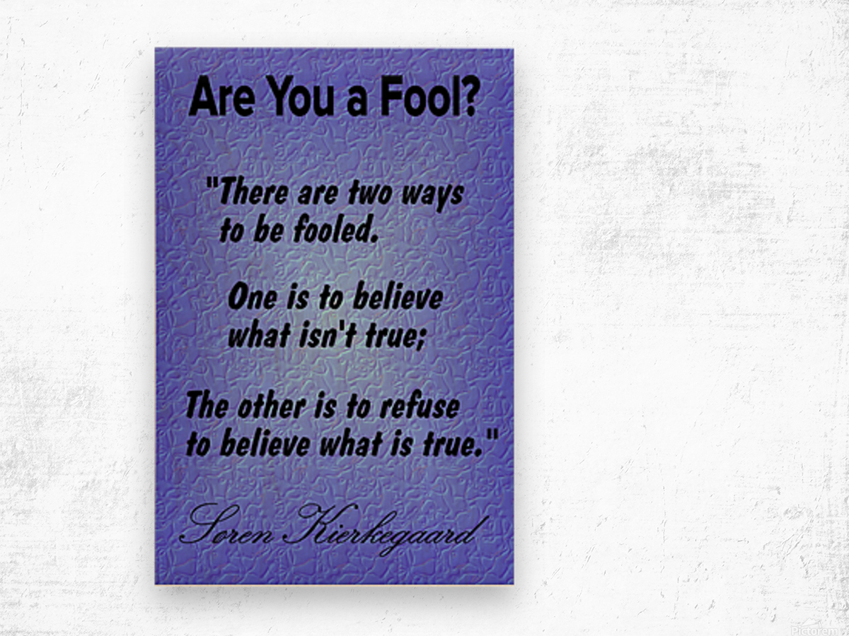2-Are You a Fool  Wood print