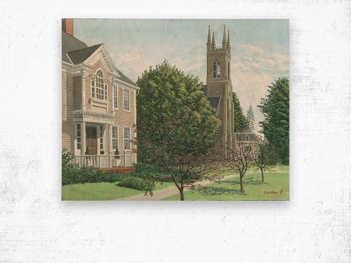 Main Street At Church Hill Road - Newtown Scenes 16X20 Wood print