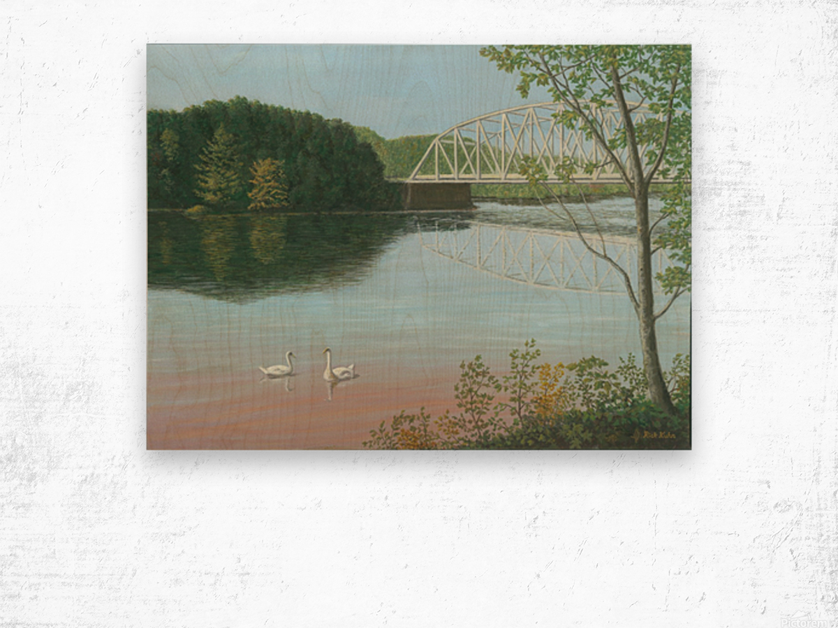 Silver Bridge - Newtown Scenes 18X24 Wood print