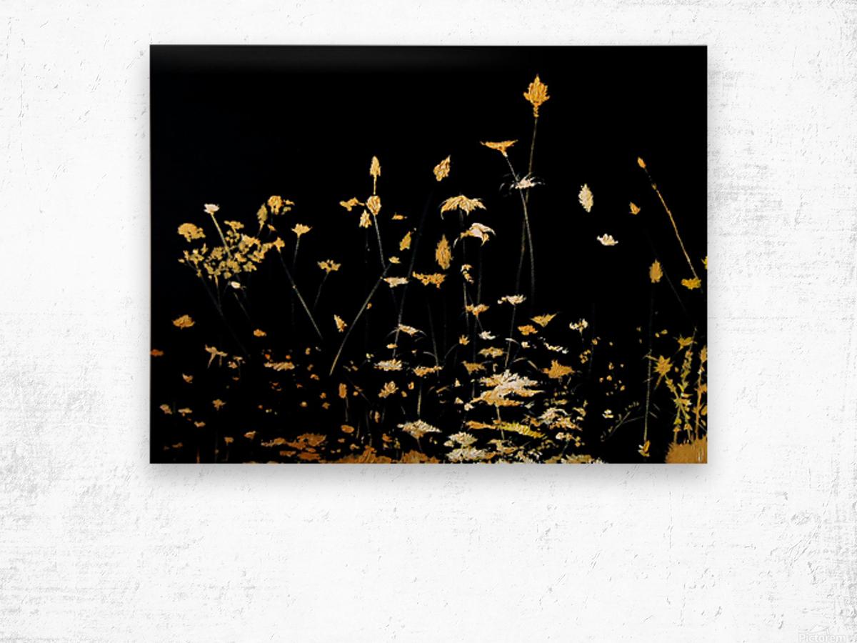 Little Chrysanthemum Wood print